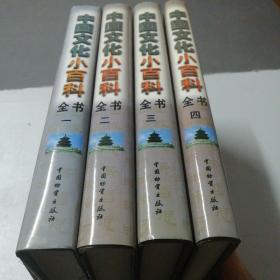 中国文化小百科全书 全四册  带外盒