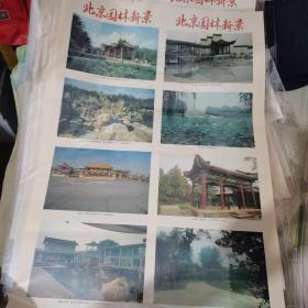 《北京园林新景》两张一对合售