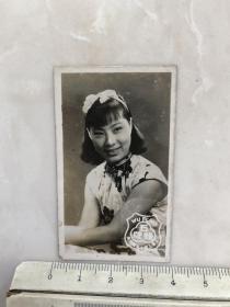 民国时期电影女明星张婉原版老照片.
