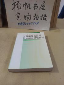 甘孜藏族自治州防灾减灾对策研究