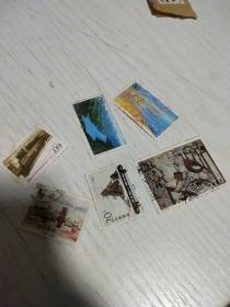 盖销邮票6张