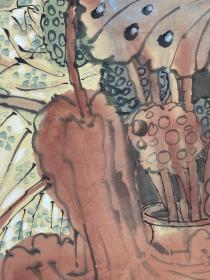 金增友  尺寸  136/66  托片  1963年出生于山东临清 1987年毕业于山东师范大学美术系。93年毕业于天津美术学院研究生班,现为山东聊城大学美术系副教授、中国美术家协会会员,中国工笔画学会会员,山东美术家协会会员。