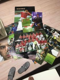 足球海报二十二张(53x78三张,其余38x50)有的是画面正反面,都拍了