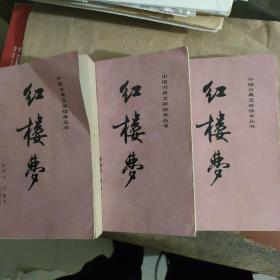红楼梦 上中下 中国古典文学读本丛书  前面有彩图