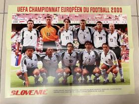 足球海报 2000欧洲杯 斯洛文尼亚/扎霍维奇