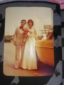七十年代的广州街景 结婚当天照片2张