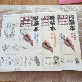 伯里曼人体结构绘画教程描摹本(共3册)