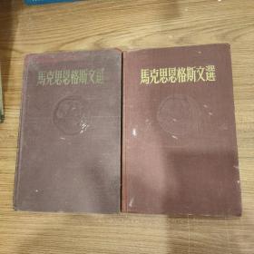 《马克思恩格斯文选》俩卷集 2册全
