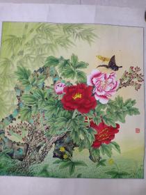 工笔画(画心 64 X 62)