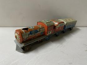 约五六十年代铁皮玩具 铁皮火车