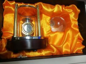 中国机械设备进出口总公司镀金温度-钟表地球纪念摆件