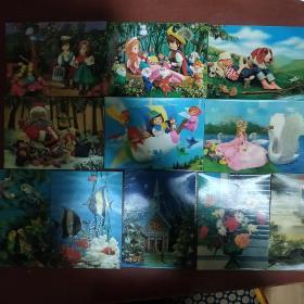 《立体画片》18片合售 64开 应该是七八十年代香港版 非常漂亮  塑胶 私藏 品如图..