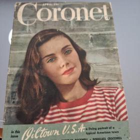 1946年美国杂志《Coronet》四月一期(皇冠,自己翻译的,可能不准,仅供参考),品如图,详情见商品品相描述,售出后不退不换