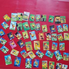 统一小浣熊微笑宝贝运动酷卡(54张合售)