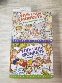 Five Little Monkeys Jumping on the Bed+Five Little Monkeys Sitting in a Tree  五只小猴子坐在树上面(两本合售)