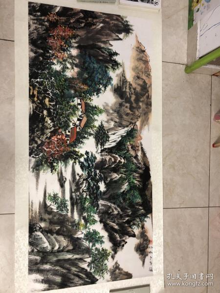 画家 佘德林  山水画一副7