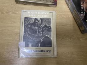 (初版)Rainbows Are Made   桑德堡诗选,著名的 Fritz Eichenberg 木刻插图,布面精装16开,第一版