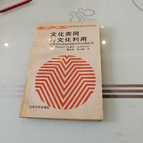 文化类同与文化利用:世界文化总体对话中的中国形象