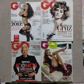 GQ杂志 2011年 4册合售 英文版 书目请看图
