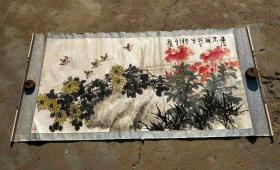 王炳龙老师(1940-1999),济南人。1966年毕业于中央美术学院中国画系。后又师从李苦禅为入室弟子,得其心传口授,又受王雪涛、郭味蕖、田世光等教诲,其学兄范曾先生对其艺事也有很大影响。从传统大写意及西洋绘画中吸取营养,逐步形成个人风格。擅写意画鸟。收藏佳作,到手可自己重新装裱、更能展现作品之美。【永久保真迹】画心尺寸136 cm /70cm