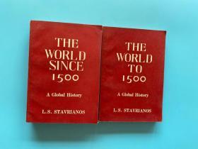 A Global History :The World to 1500+The World Since 1500《全球通史》2册合售 正版现货 实物拍摄 内页干净