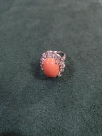 早期日本回流纯银戒指(8.3克)戒面尺寸1.4厘米✘1厘米