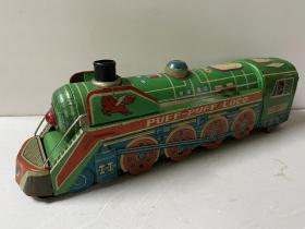 约五六十年代铁皮玩具 绿皮火车