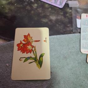 年历片-1982年:   花卉、 ( 单枚枚)  【沂蒙红色文献个人收藏展品】 235