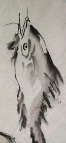 【尹沧海】早期花鸟画一幅,自然老旧,42厘米//95厘米,喜欢的私聊