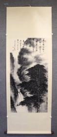 黎雄才(启功提字)    山水   立轴    画心尺寸 67 X 137 cm