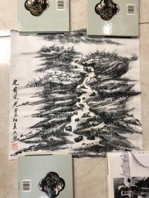 画家 佘德林  山水画一副8