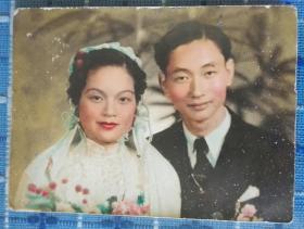 民国1939年人工上色结婚照片