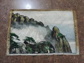 文革织锦画(黄山天都峰)