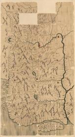 古地图1882–1889 吉林与图 清光绪八年至十五年间。纸本大小179.67*98.51厘米。宣纸艺术微喷复制。