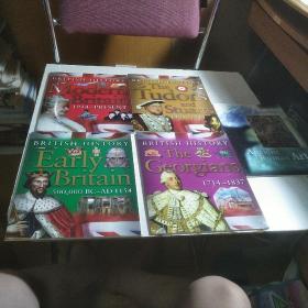 BRITISH HISTORY(英文原版彩图儿童读物)4本合售 附送一本外文版
