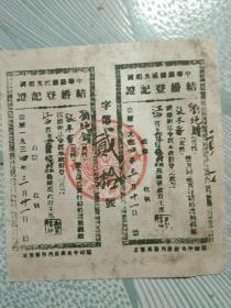 结婚证(红军时期)