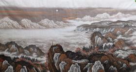 江山多娇大六尺,(尺寸98厘米X180厘米)