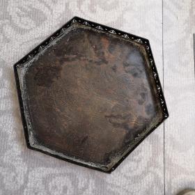 纯铜多边形茶盘