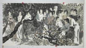 崔进   尺寸  179/97  软件 1966年生于江苏东台,毕业于南京艺术学院,现为中国美术家协会会员,国家一级美术师,中国艺术研究院国画院副院长。研究生院硕士生导师。