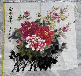 字画类—花开富贵手绘写意花卉