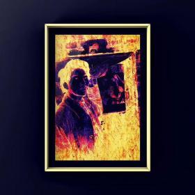 摩诃那油画《少年回光返照》