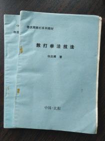 罕见 散打拳法技法 佟庆辉1993年