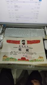 文革一个知青的证书8件合售(扬州知青下放到兴化县)出席证,兴化代表证。大文革毛像奖状