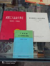 武铁工人运动大事记【1898+1949-1919-1949+1949-1988】3册合售
