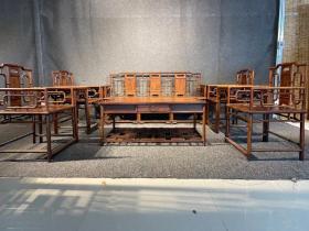 明清家具海南黄花梨沙发十件套古董传世老海黄黄花梨家具