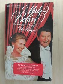 英文原版书 Make-Believe: The Story of Nancy and Ronald Reagan Paperback – 1984 by Laurence Leamer