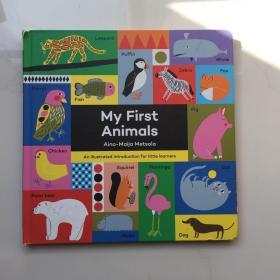 My First Animals Aino-Maija Metsola   英文儿童纸板书 儿童认知书  精装 大开本