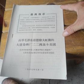 高举毛泽东思想伟大红旗的大连染料厂224战斗兵团