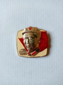 八角帽(4291)毛主席章(直径4.5厘米)
