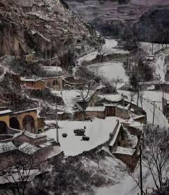 刘峰至,可合影,刘峰至老师国展作品 陕北风格